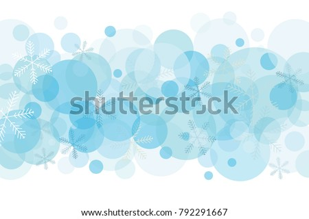 Abstract Vector Illustration With Light Blue Winter Background Isolated Snow And Snowflakes In Shades