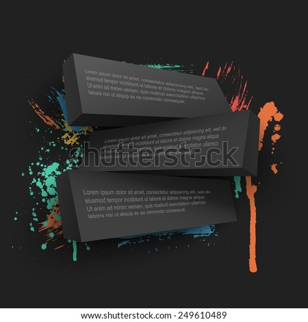 Abstract vector Illustration with place for text. Hand drawn watercolor blot. Template poster with paint splash pattern. Background design for banner, flyer, cover, brochure. - stock vector