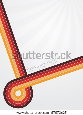 Abstract vector illustration with retro designed lines and gradient background