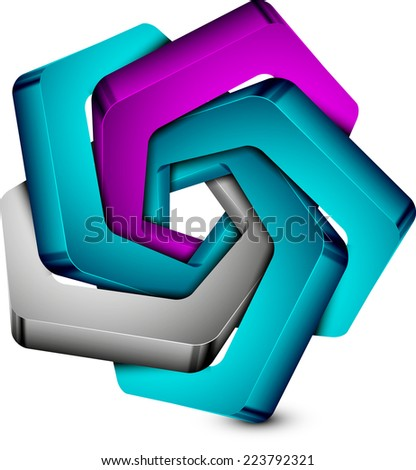 abstract vector illustration with shadow in the shape of a star eps 10 / abstraction - stock vector