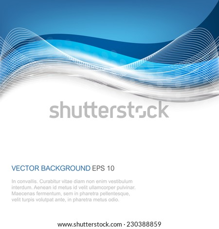 Abstract vector illustration with wave on a white background/design with place for your content or creative editing