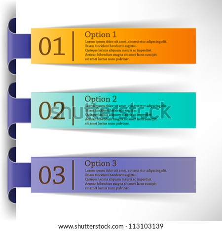 abstract vector labels design eps10 - stock vector