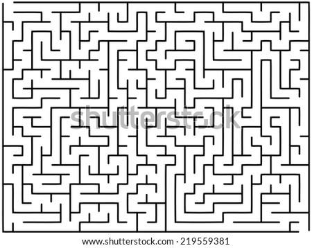 Vector Illustration Maze Stock-vektorgrafik 92889787 - Shutterstock Tipps Labyrinth Irrgarten Anlegen Kann