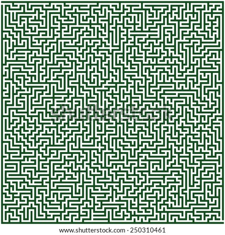 Abstract vector labyrinth of high complexity - stock vector