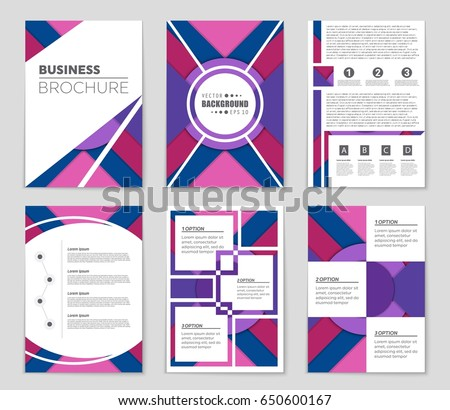 abstract vector layout background set art stock vector royalty free