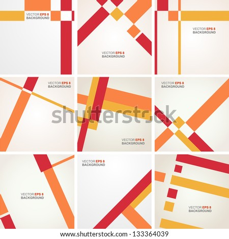 Abstract vector layout design - stock vector