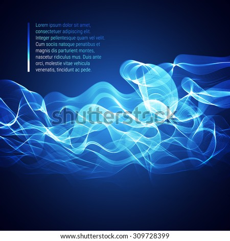 Abstract vector lights waves background, smoke background, fire background, lines background