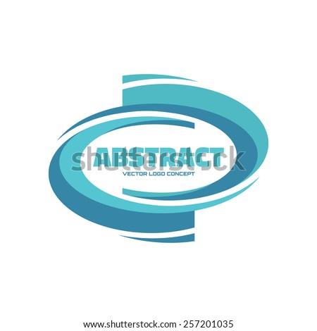 Abstract - vector logo concept illustration. Vector logo template. Abstract smooth form. Design element. - stock vector