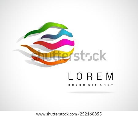 Abstract Vector Logo Design Template - stock vector