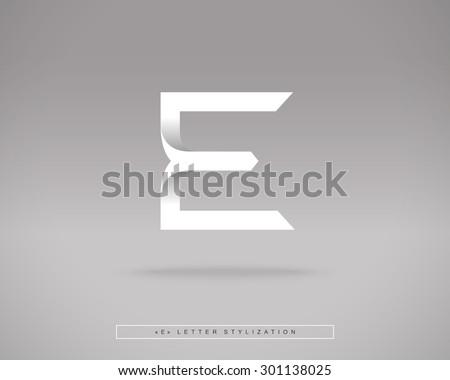 Abstract Vector Logo Design Template. Creative Concept Icon. Letter E Stylization  - stock vector