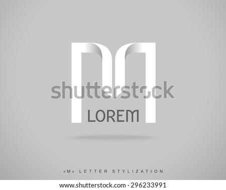 Abstract Vector Logo Design Template. Creative Concept Icon. Letter M Stylization  - stock vector