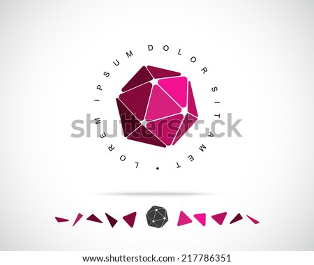 Abstract Vector Logo Design Template. Creative 3d Concept Icon - stock vector