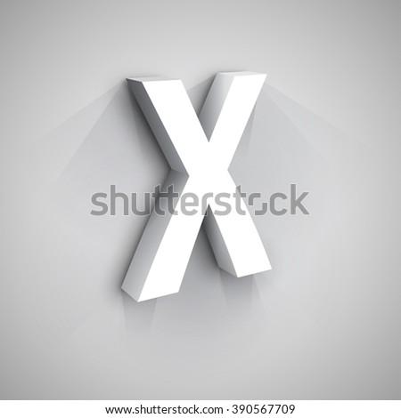 Abstract Vector Logo Design Template. Creative 3d Concept Icon. Letter X Stylization  - stock vector