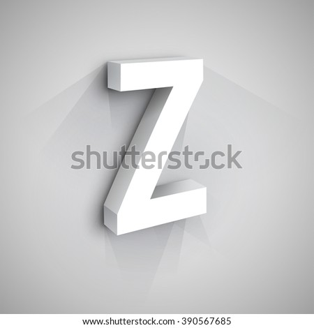 Abstract Vector Logo Design Template. Creative 3d Concept Icon. Letter Z Stylization
