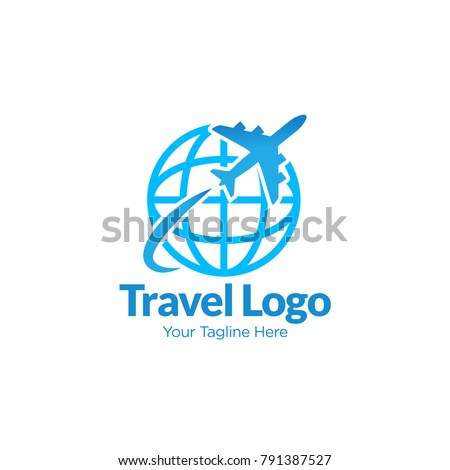 Abstract Vector Logo For Travel Agency Global Sign