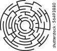 abstract vector maze - stock vector