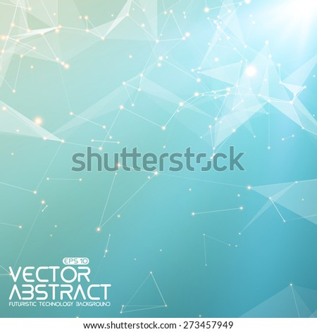 Abstract vector mesh background. Futuristic technology style. Elegant background for business presentations. Flying debris. eps10 - stock vector