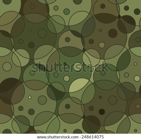 Abstract Vector Military Camouflage Background - stock vector