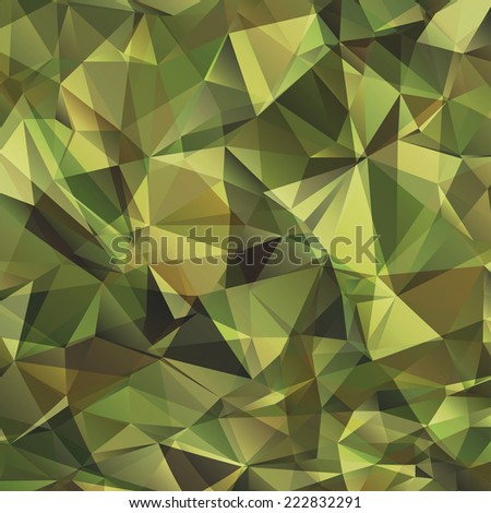 Abstract Vector Military Camouflage Background Made of Geometric Triangles Shapes - stock vector