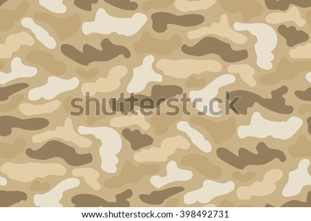 Abstract Vector Military Camouflage Background. Seamless Camo Pattern for Army Clothing. - stock vector
