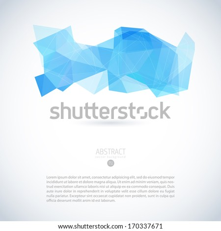 Abstract vector modern background with triangle object  - stock vector