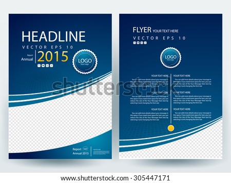 Abstract vector modern flyer  brochure / annual report /design templates / stationery  with white background in size a4  - stock vector