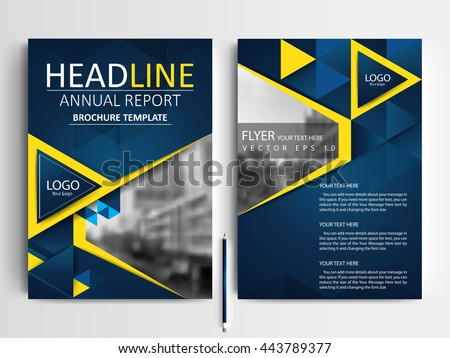 Abstract Vector Modern Flyers Brochure Annual Stock Vector