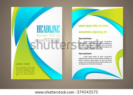 Abstract vector modern flyers brochure, booklet, annual report, design templates with white background in size a4. - stock vector