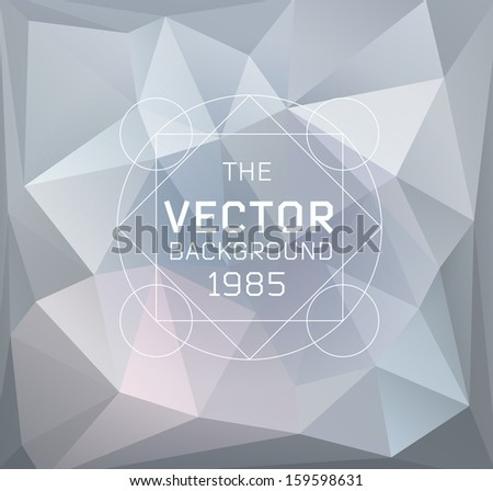 Abstract vector modern light background with label, can be used for website, info-graphics - stock vector