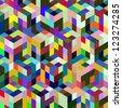 Abstract vector mosaic. - stock vector