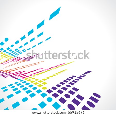 abstract vector mosaic colorful background design, vector illustration