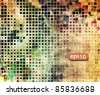 abstract vector mosaic tile grunge background design - stock photo
