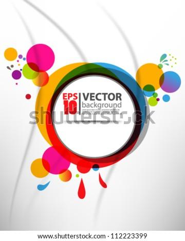 abstract vector multicolor design eps10 - stock vector