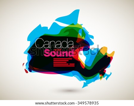 Abstract Vector Nation Map Background - Canada - stock vector