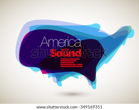 Abstract Vector Nation Map Background - U. S. - stock vector