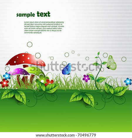 abstract vector nature background - stock vector