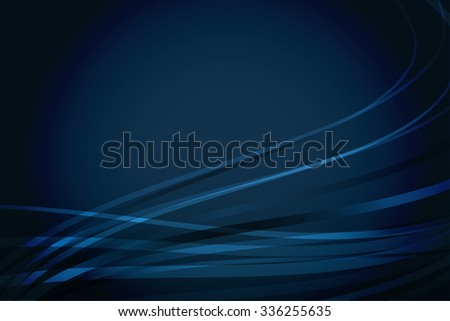Abstract vector navy blue background with wavy lines - stock vector