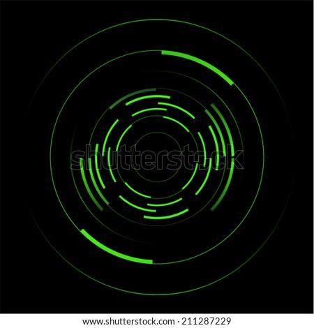 Abstract vector of green circles - stock vector