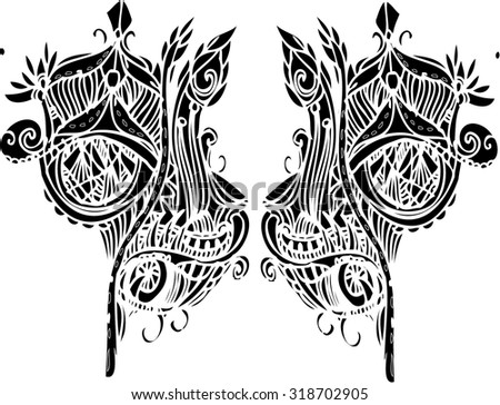 abstract vector of imagination line art