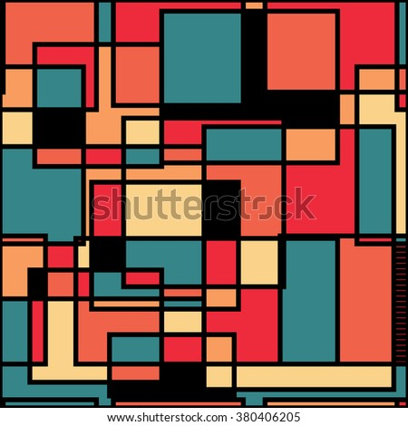 Abstract vector pattern. Modern stylish texture. Repeating geometric background with linear.