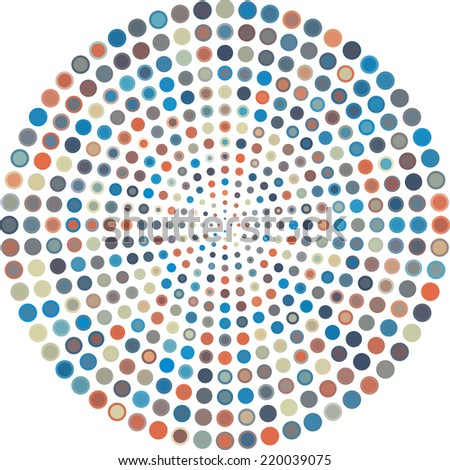 Abstract vector pattern with colorful circles. - stock vector