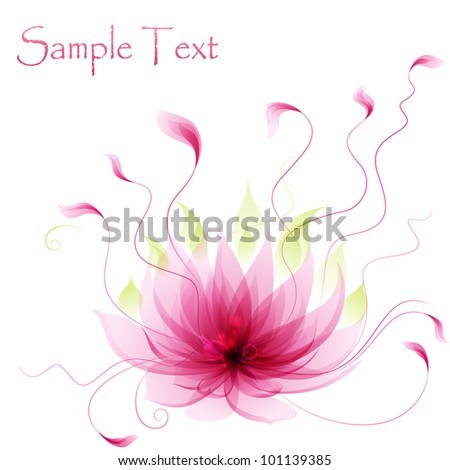 Abstract vector pink lotus flower - stock vector