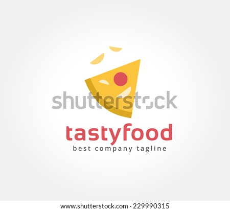 Abstract vector pizza logo. Delivery pizza icon. Pizza chief icon. Pizza slice. Cafe pizza, cooking pizza, food and restaurant, pizzeria logo, food festival, Pizza delivery. Pizza slice isolated - stock vector