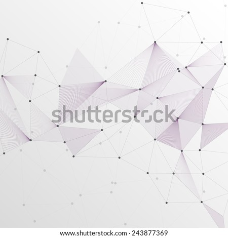 Abstract Vector Polygonal Background for Business  - stock vector