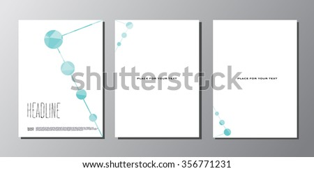 Abstract vector polygonal background template for your work: document, presentation, flyer, business infographic, illustration template design, site,cover, poster, brochure - stock vector