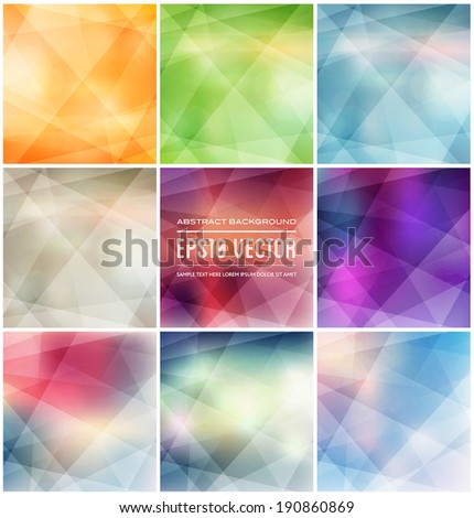 Abstract vector polygonal trendy and modern geometric backgrounds collection - stock vector