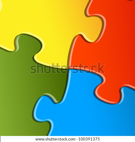 Abstract vector puzzle / solution background detail - stock vector