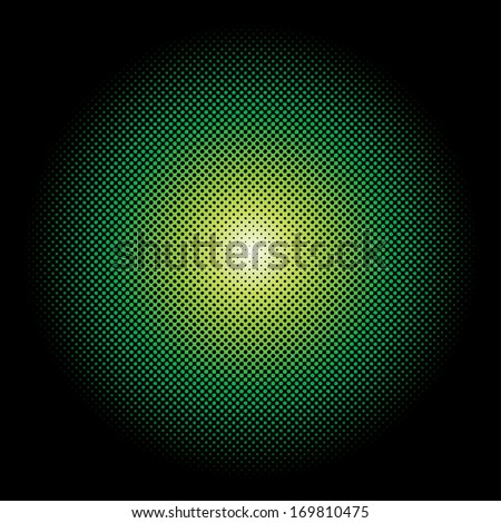 Abstract vector radial dots formation.