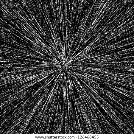 Abstract vector radial grunge texture - stock vector