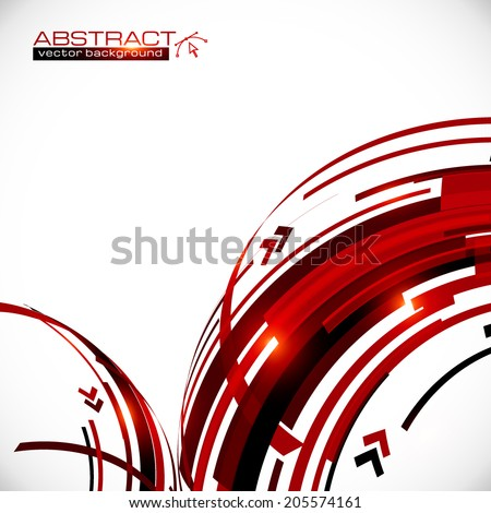 Abstract vector red and black circles background - stock vector